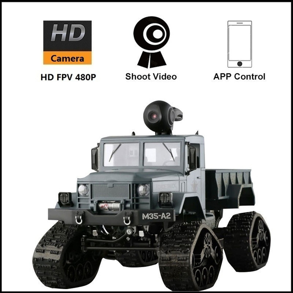 30Mins Long Life Time 480P Adjustable HD Camera APP Control RC Car Durable  Wrestling ABS 4WD Remote Control Climbing Toy RC Racing RC Truck