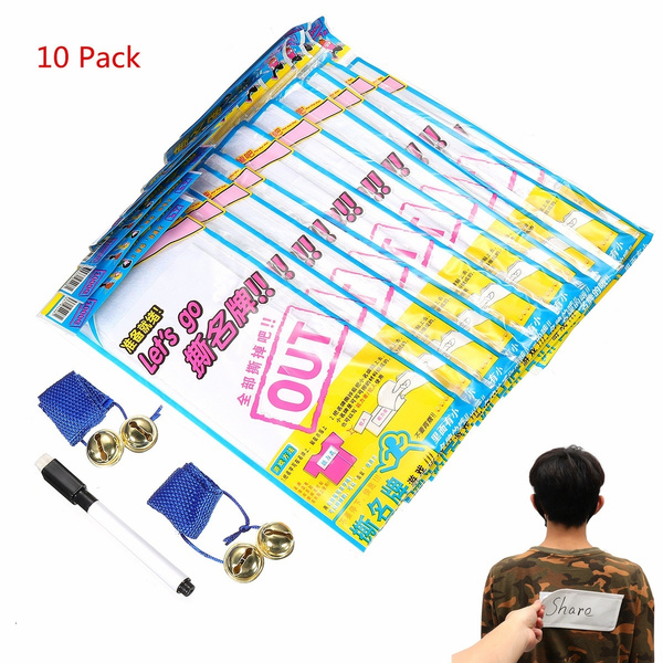 Other Backyard Games 2 Bells For Running Man Sbs Korea Game Name Plate Tag Sticker 1pen 10pack Sporting Goods Cub Co Jp