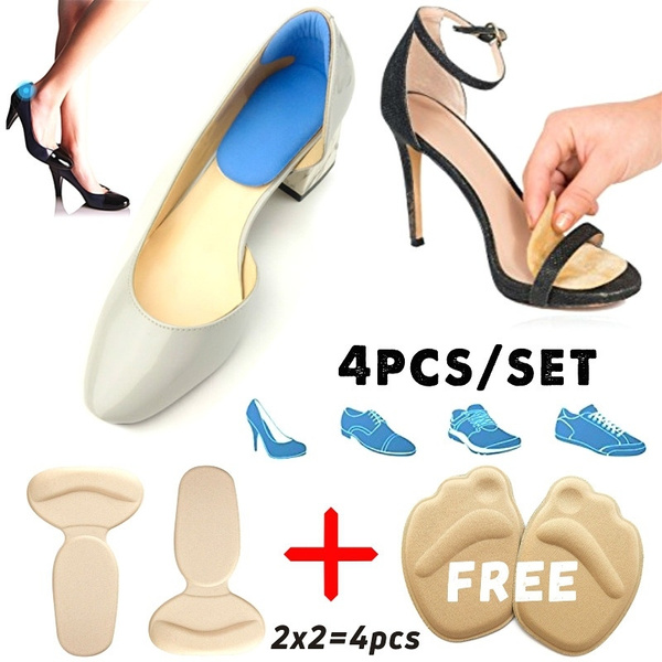 2 Pairs Cushion Grips heel pads inserts grips,Shoes Boots High Heels inserts for women Gel Inserts Insoles Liners