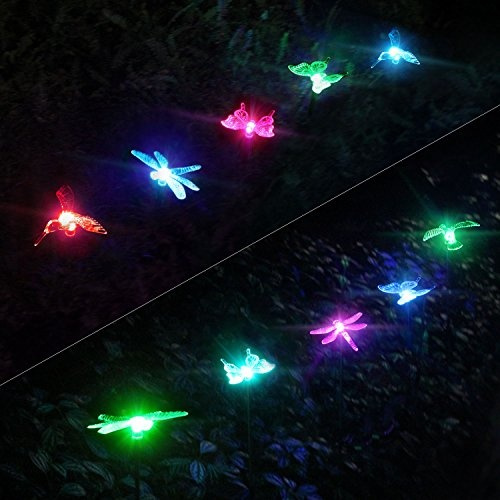 Wish | OxyLED Solar Garden Lights, 3 Pack Solar Stake Light Hummingbird  Butterfly Dragonfly, Solar Powered Pathway Lights, Multi Color Changing LED  Lights, ...