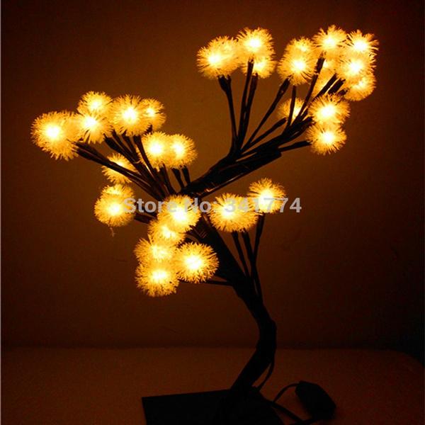 Led Crystal Cherry Ball New Year Christmas Tree Night Lights Table Lamps Bedroom Wedding Luminaria Decoration Indoor Lighting