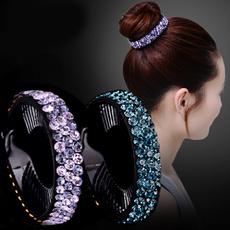 Flowers, Clip, headwear, Rhinestone