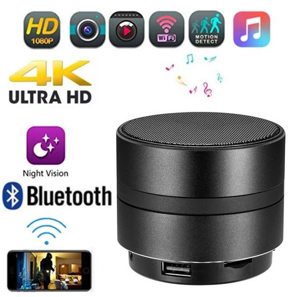 4K HD Hidden Camera 1080P WIFI Spy Cam Bluetooth Speaker Wireless Video Recorder
