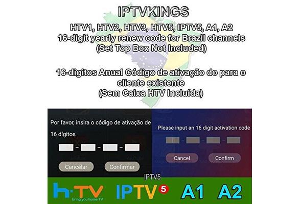 HTV 1 2 3 5/A1/A2/IPTVKINGS/BRAZIL BOX/SUPER BRAZIL IPTV BRAZIL  SUBSCRIPTION 16-digit Renew code with magic keys FREE 1 EXTRA MONTH
