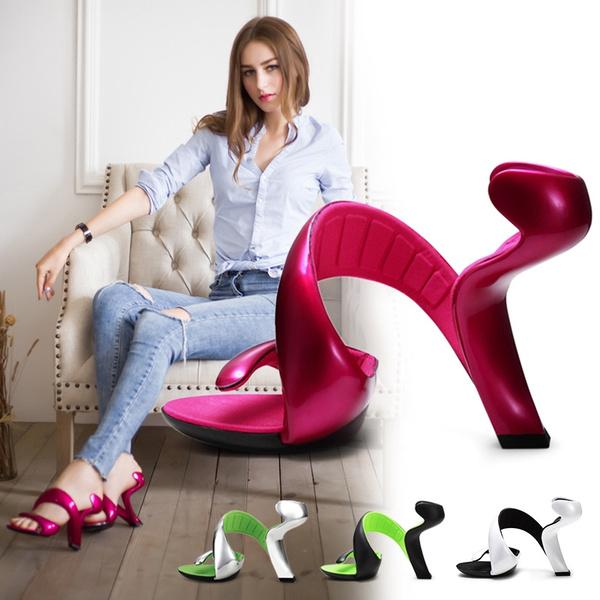 a8f8267e61 Women Sandals 2018 Summer New Fashion Bottomless Snake High Heels ...