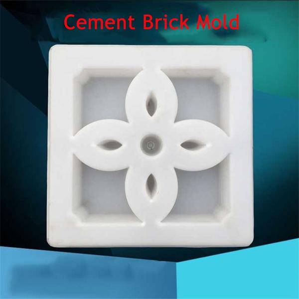 30*30cm DIY Mould Antique Window Scenic Wall Brick Path Cement Concrete  Paving Mold