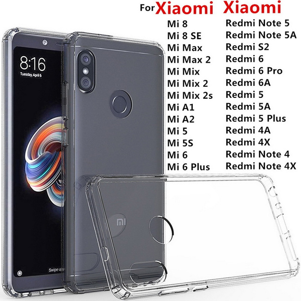 360 Degree Full Cover Tpu Phone Cases For Xiaomi Mi 8 Se 5x 6x Redmi Note 4 4x 5 Pro Silicon Case On Redmi 6 6a Pro 4x 5a 5 Plus Clothing, Shoes & Accessories