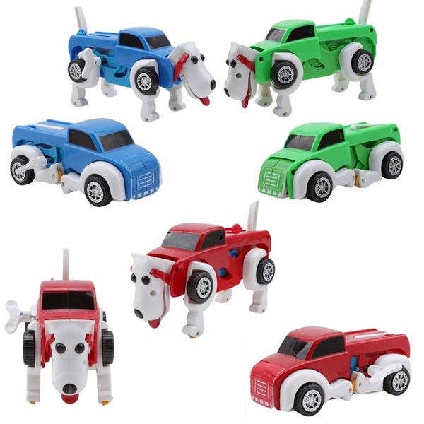 Dog Car Transformer Novelty Clockwork Deformable Kids Novelty Toy G