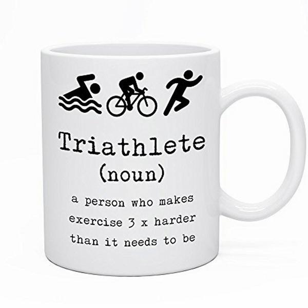 Wish | Funny Funny Coffee Tea Triathlete Triathlon Novelty Mug - Perfect Gift