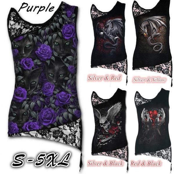 blouse, Summer, Plus Size, deathprinting