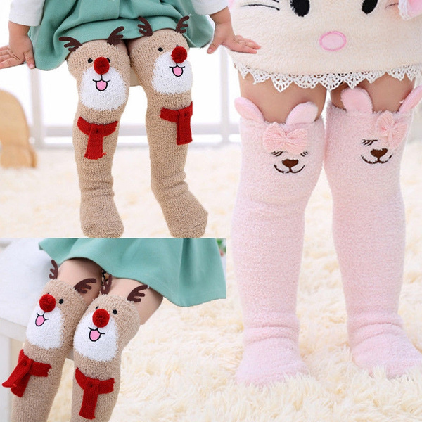 Baby Kids Toddlers Cute Non-slip Knee High Socks Tights Leg Warmer Stockings