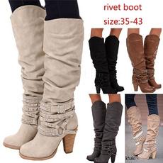 Moda, long boots, Womens Shoes, kneelengthboot