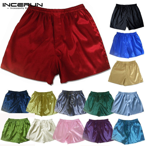 Men Men/'s Shorts Shorts Loose Underwear Boxers 4 Sizes 5 Colors Satin L-3XL New