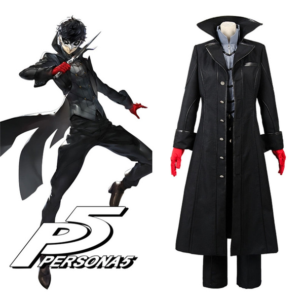Anime Cosplay Persona 5 Joker Protagonist Outfit Suit Cosplay Costume