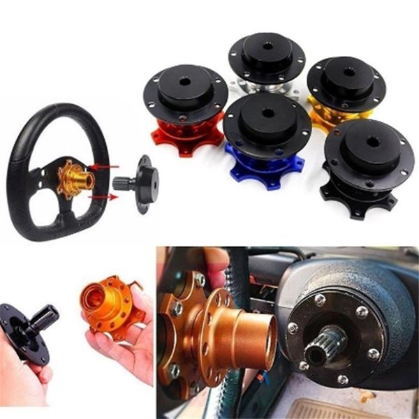 Quick Release Snap Off Steering Wheel Adapter Kit Boss Hub Universal Racing