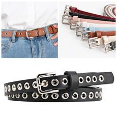 hollowrivetsbelt, Fashion Accessory, Leather belt, Waist