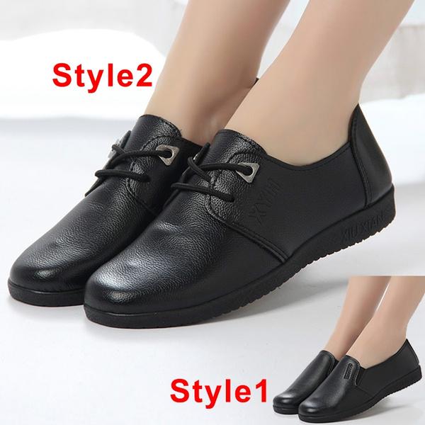 Restaurant Hotel Kitchen Work Footwear Non Slip Flat Soft Work Shoes Waterproof Oil Proof Women S Shoes Black Chef Waiter Shoes