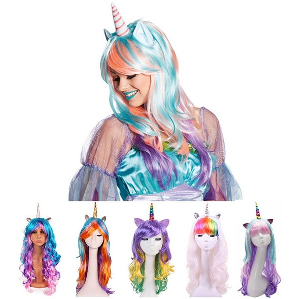 wig, party, rainbow, Cosplay