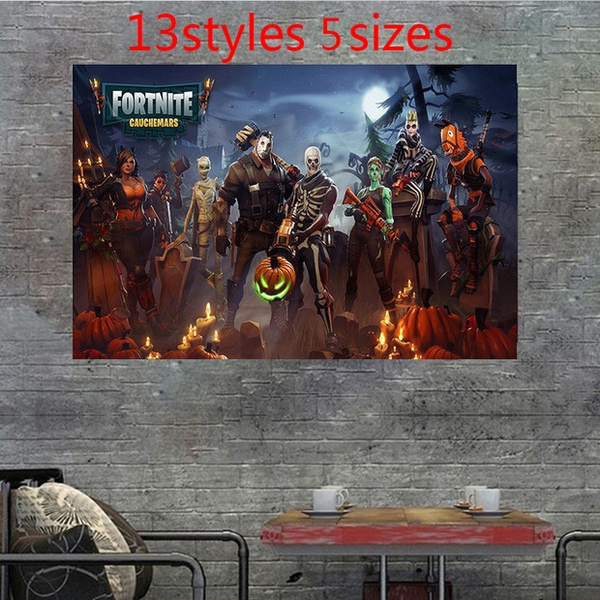 Posters And Prints Fortnite Battle Royale Game Poster Wall Painting Canvas Halloween Art Wall Pictures For Living Room Unframed For Game Fans