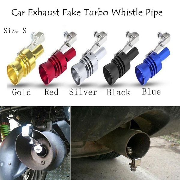 Gold Exhaust Fake Turbo Whistle Pipe Sound Muffler Blow Off Valve