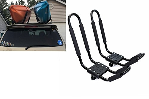 Mrhardware A01 Kayak Roof Rack for SUV Car Top Roof Mount Carrier J Cross Bar Canoe Boat 1 Pairs