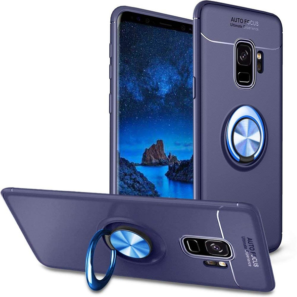 Camera 360 Degrés >> Coque Samsung Galaxy S9 Housse De Protection Case Mince Avec 360 Degres Rotation Ring Stand Etui Rigide Silicone Souple Tpu Ultra Fine Bumper Cover