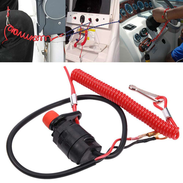 Outboard Kill Stop Switch Engine Ignition Safety Tether Lanyard
