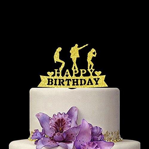 Excellent Happy Birthday Cake Topper Michael Jackson Birthday Party Funny Birthday Cards Online Alyptdamsfinfo