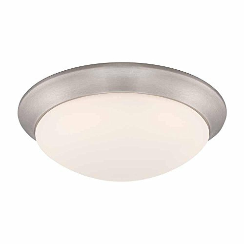 Refurbished Commercial Electric Hb1022 35 11 In Brushed Nickel Led Flush Mount With Frosted White Gl