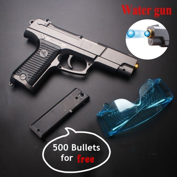 New P85MK11 Super Realistic Glock Water Gun Child Battle Toy Gun BB Gun Can  Launch Crystal Bomb High Quality Water Gun Simulation Musket Gun Crystal