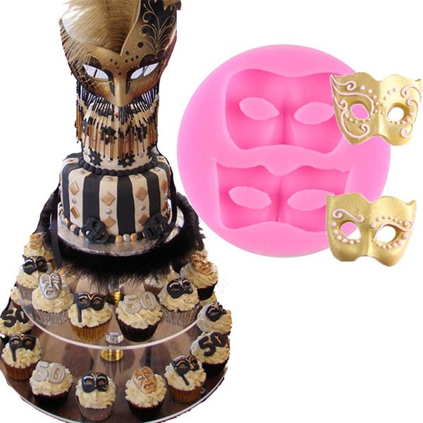 Pleasant Anyana Masquerade Mask Cake Border Mould Cake Fondant Silicone Gum Funny Birthday Cards Online Alyptdamsfinfo