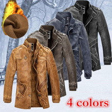 Fashion, Winter, standingcollarjacket, leather