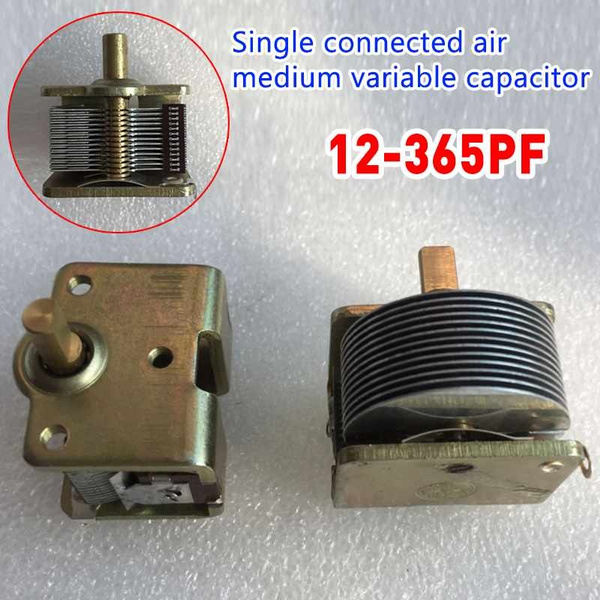 Single Joint Air Dielectric Variable Capacitor And Hats 12PF to 365pf 250M
