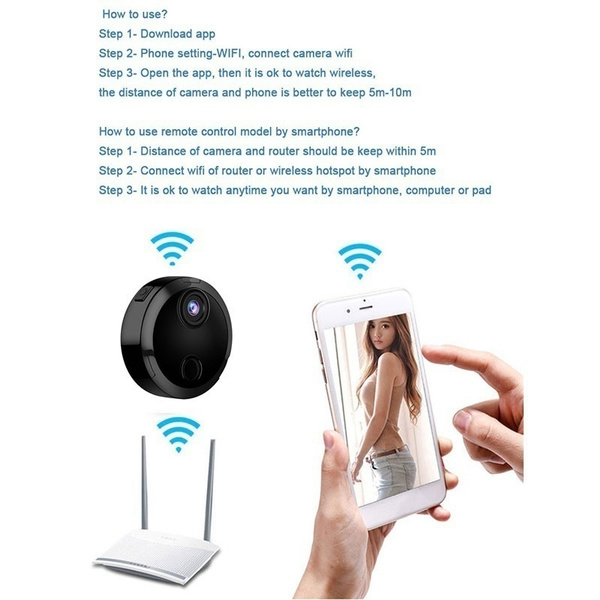 Smallest 1080P HD Mini Camera Smart Wifi Video Camera Rechargeable Night  Vision Recorder Home Security Invisible Camera