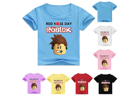 4 11 Years Unisex Kids Game Roblox Printed Summer T Shirt Top Geek