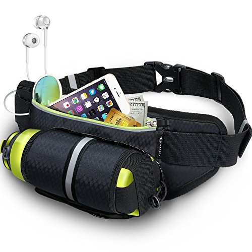 15e044c0599b Fanny Pack MYCARBON Waist Pack with Water Bottle Holder, Waterproof Running  Belt for Men Women, Fits IPhone 8Plus Galaxy S8 Note 8, Reflective ...