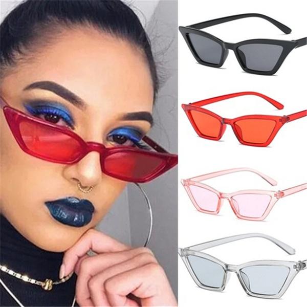 9f0bee432c7 1PCS Fashion Cat Eye Sun Glasses for Women Small Triangle Sunglasses ...