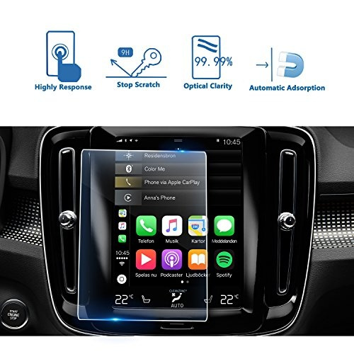 LFOTPP Tempered Glass In-Dash Clear Screen Protector LiFan 2019 Volvo XC40 8.7 Inch Sensus Navigation System Center Touch Screen Protector