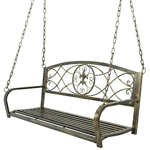 Amazing Nova Microdermabrasion Patio Metal Hanging Porch Swing Chair Bench Seat Outdoor Furniture With Hanging Iron Chains Antique Bronze Finished 2 Person Alphanode Cool Chair Designs And Ideas Alphanodeonline