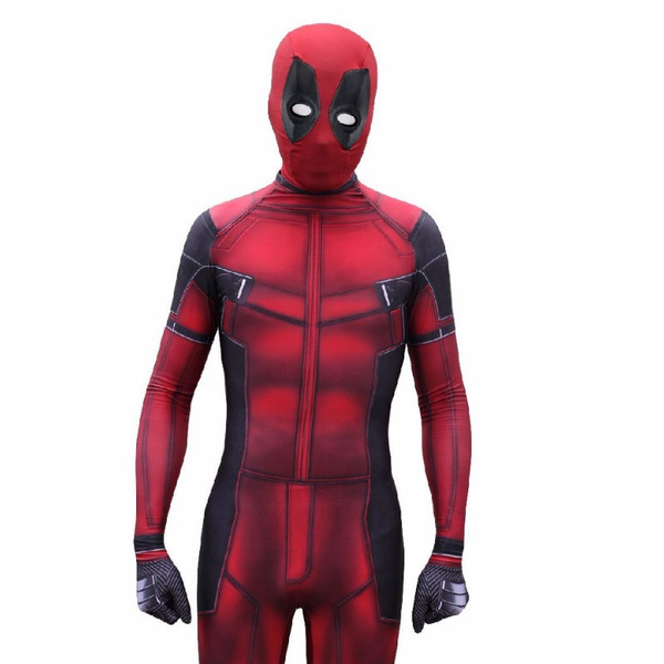 wish high quality deadpool costume halloween costumes for men adult 3d printing custom made deadpool superhero costume new deadpool cosplay costume tight
