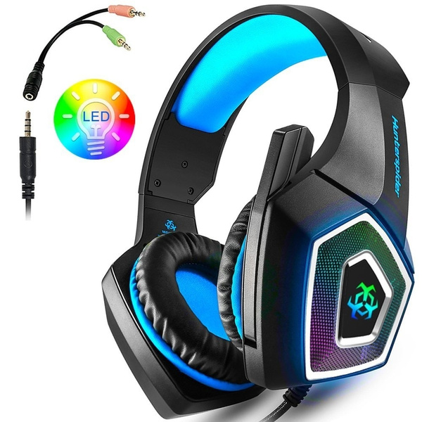 Best Gaming Headset with Mic for Xbox One PS4 PC Nintendo Switch Tablet  Smartphone, Headphones Stereo Over Ear Bass 3 5mm Microphone Noise  Canceling 7