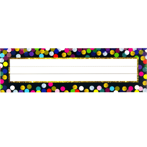Wish 36pcs Confetti Student Nameplates Desk Name Tags Clroom Decor Organization Teacher Supplies