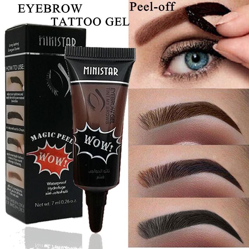 Waterproof Liquid Henna Tint Gel Peel-off Tattoo Eyebrow Long ...