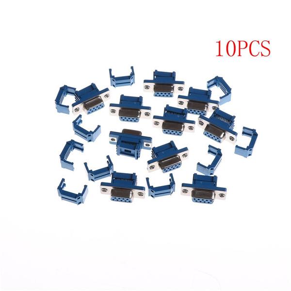 10pcs DB9 D-SUB 9 Pin Female IDC Flat Ribbon cable Connector