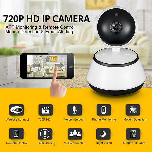 2018 New 720P IP Camera Wi-Fi Wireless Surveillance Motion Detection Camera  P2P CCTV Wifi Ip Camera Free APP V380 Home Security Cam Baby Monitor
