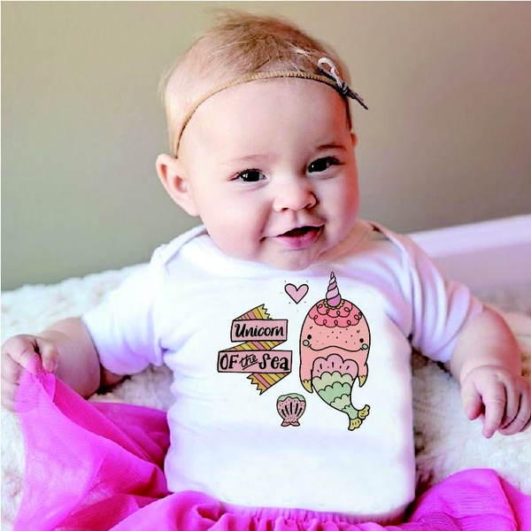 Funny Baby Gifts Unicorn Onesies Hipster Baby Clothes Funny Onesies Baby Girl Clothes Narwhal Onesie Shirt Unicorn Of The Sea