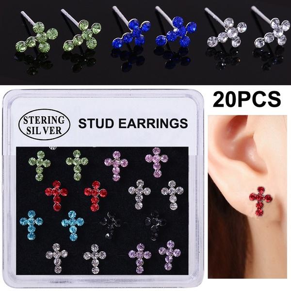 Sterling, gothicearring, punk earring, Stud Earring