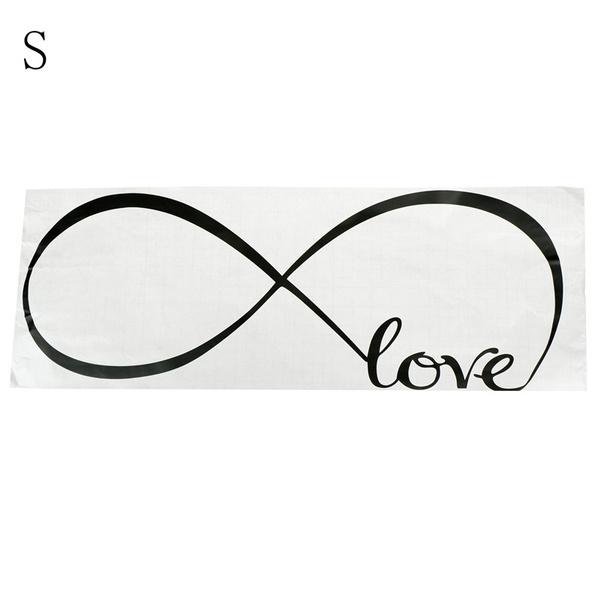 Wish 1pc Bedroom Wall Stickers Decor Infinity Symbol Word Love