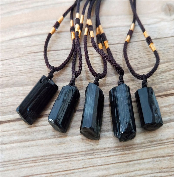 Stone, Necklace, specimen, blacktourmalinepillar