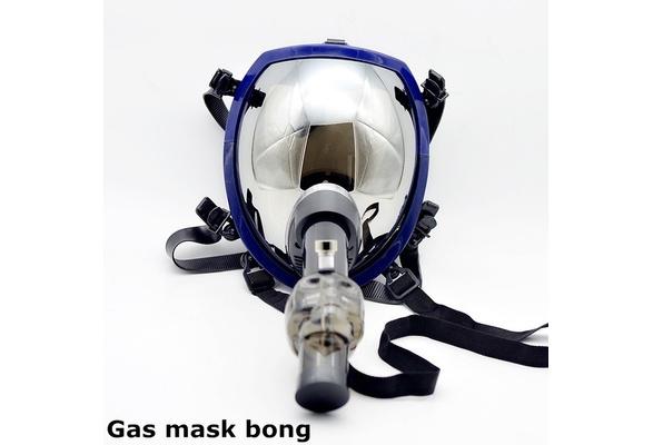 Acrylic Tube Gas Mask Tobacco Pipe Color Sent in Randomly